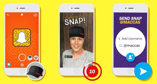 Bewerbung über Snapchat Snapens Snapchat Blog