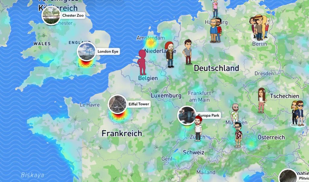 Snap Map – snapens - Snapchat Blog Du Map on