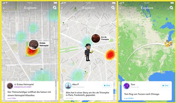 "Neue Funktion ""Explore"" jetzt auf der Snap Map – snapens - Snapchat on"